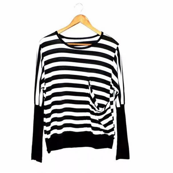2016 New Arrival O neck Jersey Casual Hip Hop Striped Bat font b Men s b