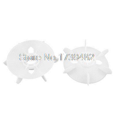 2pcs 24mm Bore Dia 6 Impeller Plastic Fan Blade for 1.5KM Motor