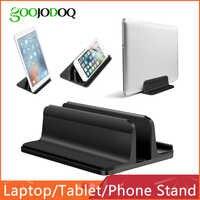 Вертикальная подставка для ноутбука Macbook Air Pro 13 15 настольная алюминиевая подставка с регулируемым размером док-станции для поверхностного ...