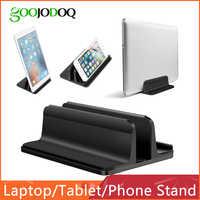 Pionowa podstawka do laptopa do Macbook Air Pro 13 15 stojak aluminiowy na biurko z regulowanym rozmiarem stacji dokującej do chromebooka powierzchniowego