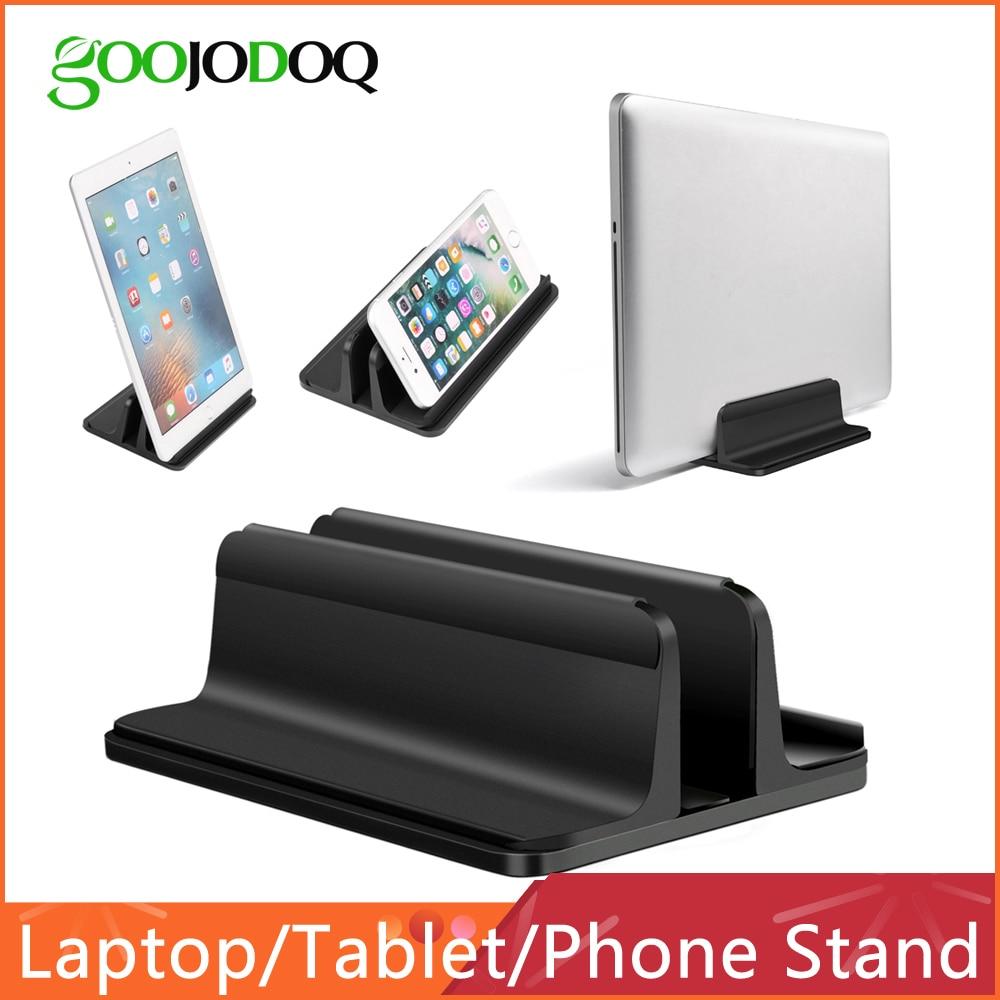 Support d'ordinateur portable Vertical pour Macbook Air Pro 13 15 support de bureau en aluminium avec taille de quai réglable pour Chromebook de Surface