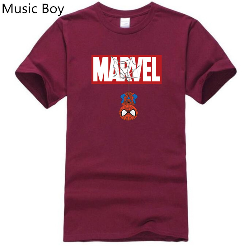 New 2019 Batman Spiderman Ironman Superman Captain America Winter soldier Marvel   T     shirt   Avengers Costume Comics Superhero mens