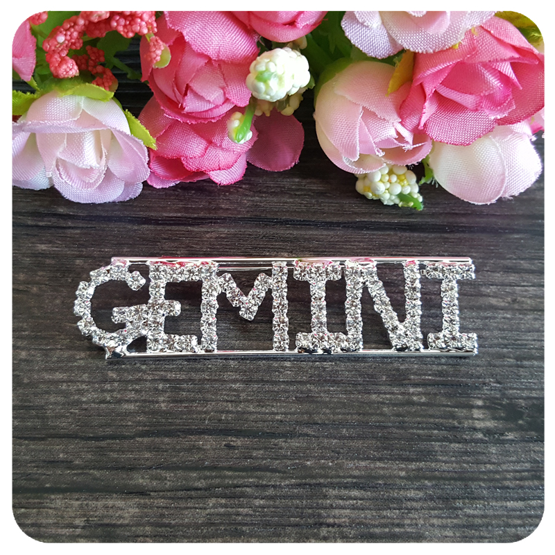 Constellation Theme Crystal Brooch Gift quot GEMINI quot Lapel Pin in Brooches from Jewelry amp Accessories