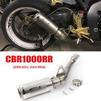 CBR1000RR Motorcycle Exhaust System Exhaust Tip Muffler Tail Pipe Mid Link Connect Pipe for Honda CBR1000RR 2008 2011 2013 2016
