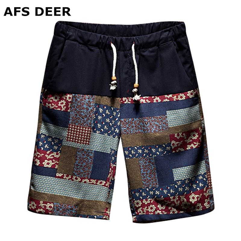 2018 New Brand Summer Casual Shorts Men Cotton Fashion Style Mens BermudaShorts Beach Print Shorts For Men Plus Size Male Shorts