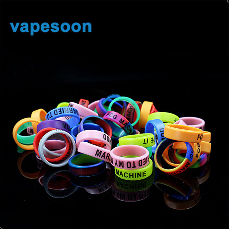 10pcs/lot decorative & protection iStick Pico Box Mod No slip Silicone Vape Band Ring for Melo 3 TFV4 Serpent Mini IJUST S kit