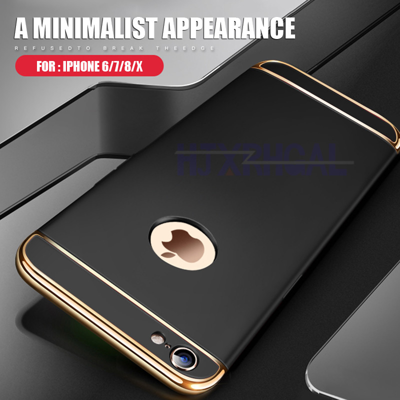 Luxury Plating Scrub Protective Case For iPhone 6 6S 7 8 X Matte hard case For iPhone 6 6S 7 8 Plus Case