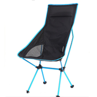 Folding outdoor aluminum alloy recliner with back extension moon chair portable fishing chair picnic picnic lounge chair