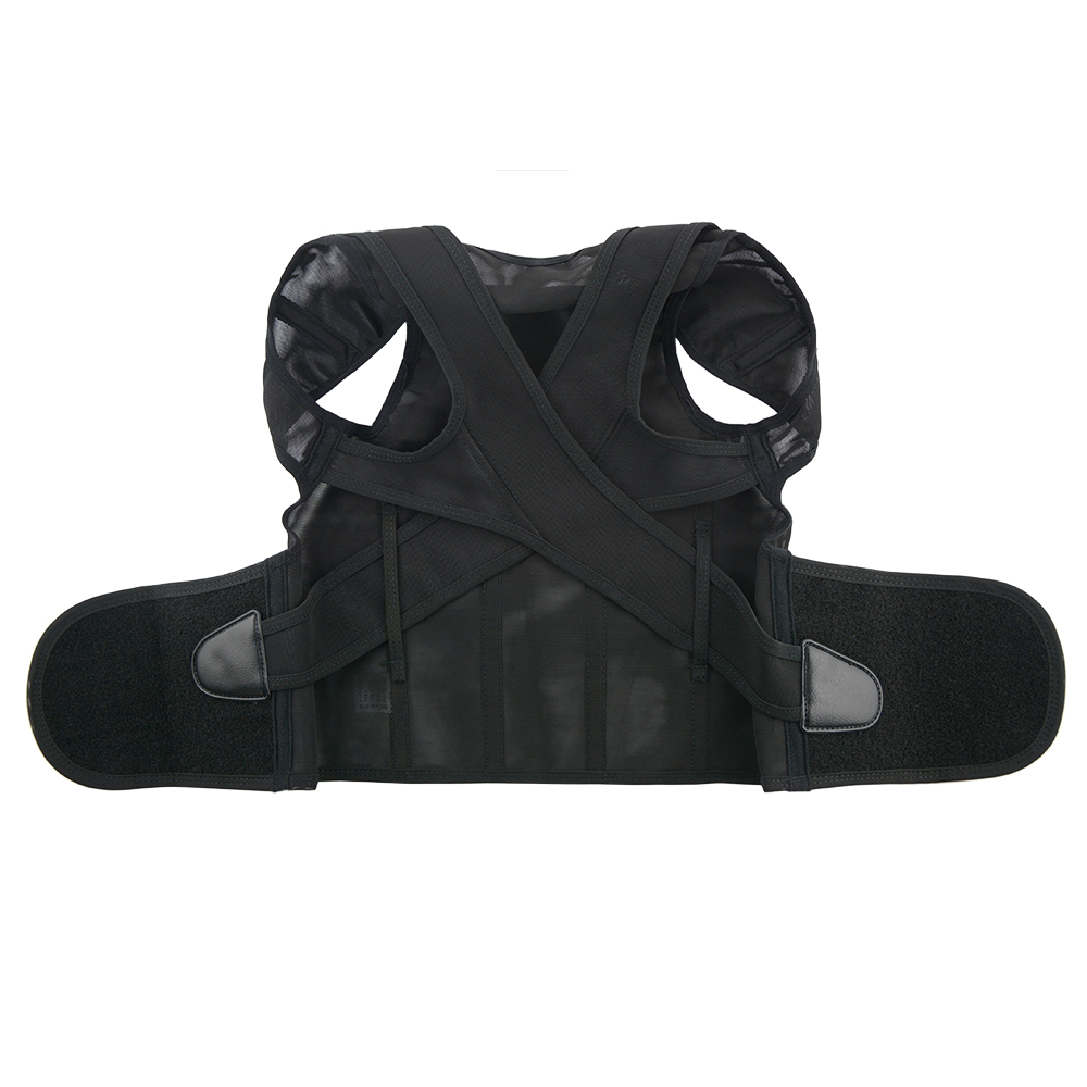 1 Pcs Posture Corrector Magnetic Back Support Belt Black