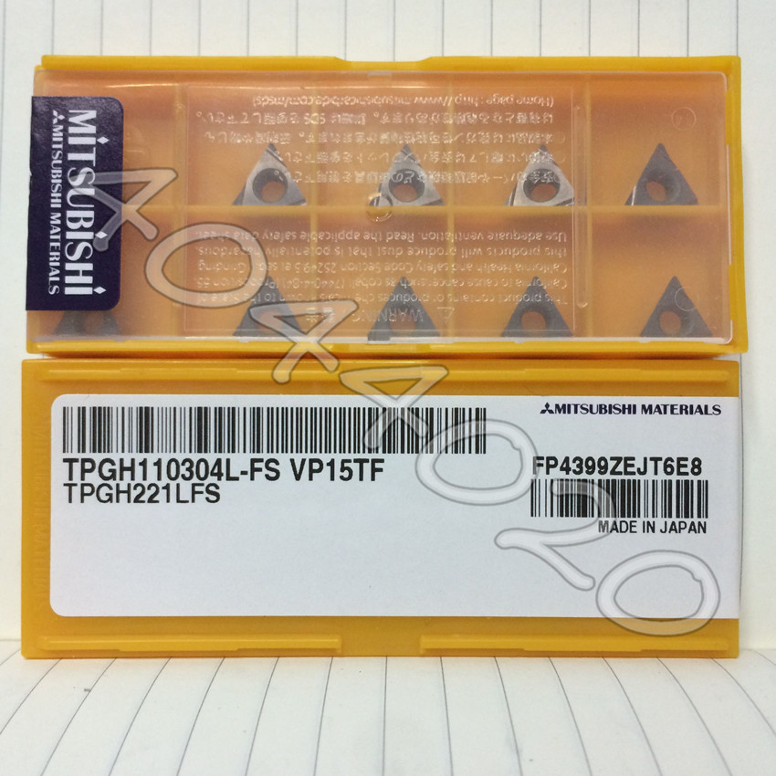10pcs new Japan MITSUBISHI  CNC blade  TPGH110304L-FS VP15TF TPGH221LFS
