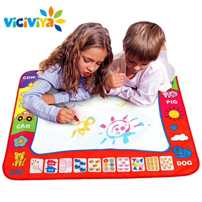 80x60cm Baby Kids Add Water with Magic Pen Doodle Painting Picture Water Drawing Play Mat in Drawing Toys Board Gift Christmas!