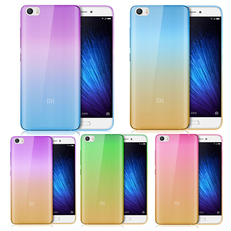 Ultra-thin Gradient Color Soft TPU Silicon Back Cover Case for Xiaomi Mi3 Mi4 Mi4c Mi4i Mi4s Mi5 Redmi note 2 3 4 4A Pro note2/3