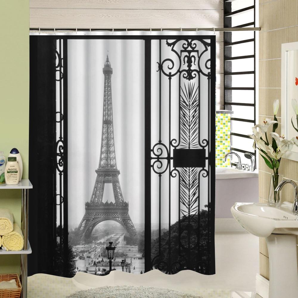 Vintage shower curtains - White Vintage Shower Curtain