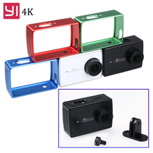 Xiaoyi 4K housing Case Sports Camera metal Frame Aluminium Alloy Protective Frame For Xiaomi 2 Yi 4K Action Camera accessories international xiaomi yi 4k plus action camera 2 19 ambarella h2 for sony imx377 12mp 155 degree 4k sports camera touchscreen