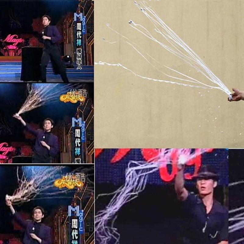 Купить с кэшбэком 10pcs Throw Streamers Spider Thread 16heads Magic Tricks Stage Magic Prop Professional Magician trick magic Gimmick