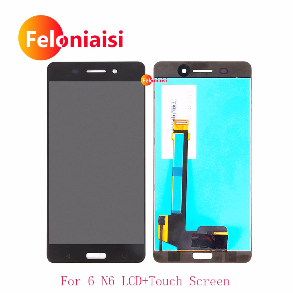 5.5 ''Per Nokia 6 N6 Nokia6 TA-1000 TA-1003 TA-1033 TA-1025 Pieno display Lcd Con Touch Screen Digitizer Assembly Panel Completo