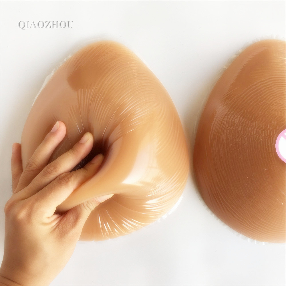 1400g large G cup silicone artificial breast forms teardrop realistic prosthesis for men crossdressing drop shipping wholesale realistic silicone breast forms cd c cup breast form prosthesis 800g breast forms for cross dressers