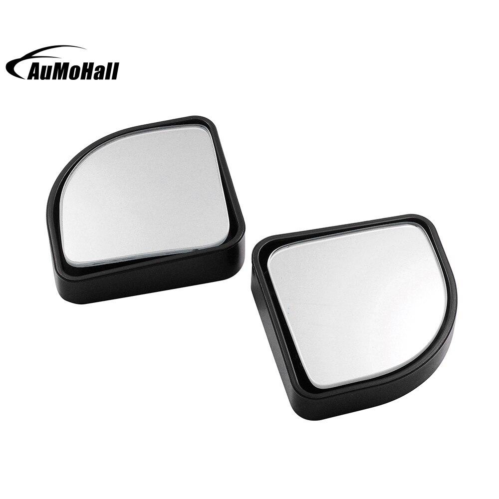 2 Pcs Rear Side View Blind Spot Mirror Plane mirror for Car Black 50*50mm