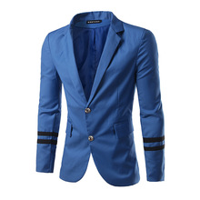 The new slim style males's go well with jacket single breasted go well with stitching