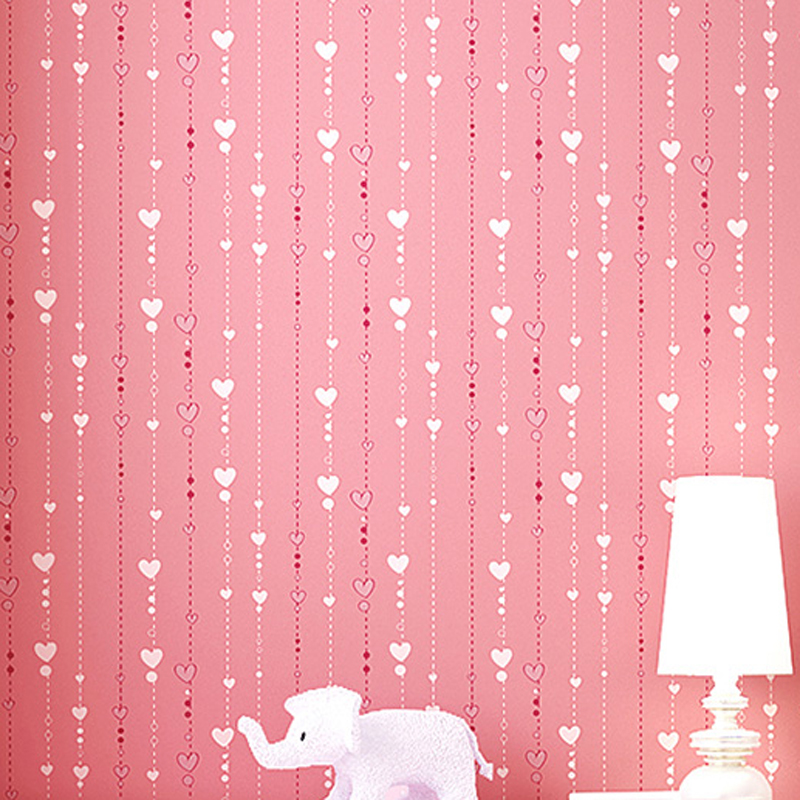 Eco friendly Heart Kids Rooms Wallpaper Non-woven Wallpapers Wall Paper Mural Wall Girls' Bedroom Decor papel de parede XY003 gillette