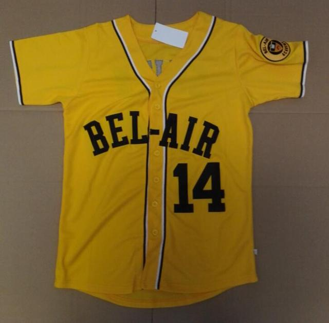 Baseball Jersey Will Smith 14  Baseball Jersey Bel-Air Academy Embroidery  Stitched Fresh Prince 2892c2bd7f42