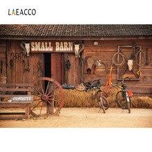 Laeacco Western Cowboy Barn Wooden House Haystack Scene Photography Backgrounds Vinyl Customs Camera Backdrops For Photo Studio