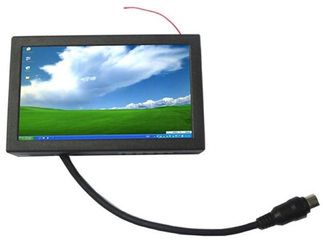 7 дюймов сенсорный экран монитор для машины, открытый каркас металлический корпус. USB вход VGA монитор.