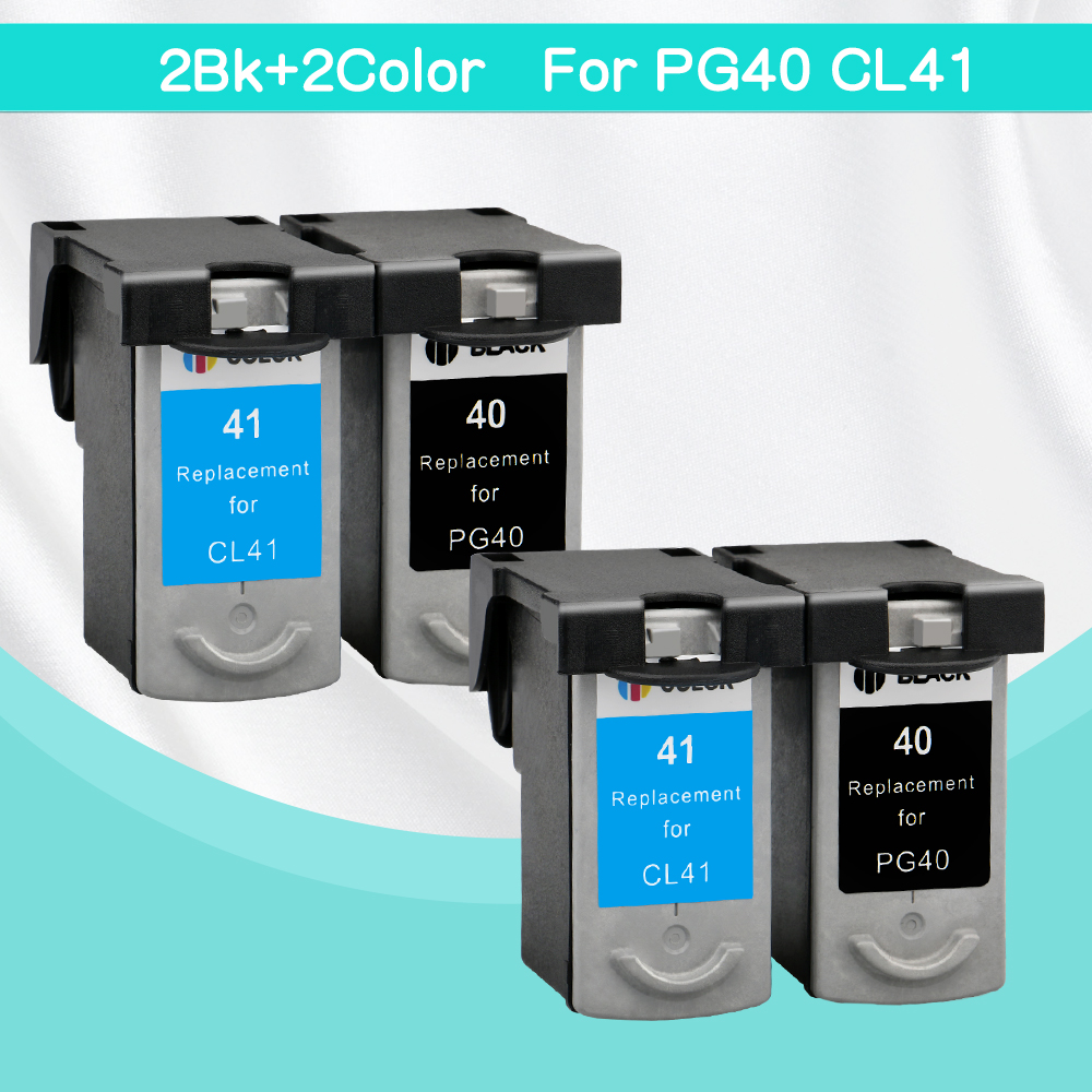 4 pcs PG-40 CL-41 Compatible Ink Cartridge PG40 41 For Canon Pixma MP140 MP150 MP160 MP180 MP190 MP210 MP220 MP450 MP470 printer 6pk 33xl compatible ink cartridge for xp530 xp630 xp830 xp635 xp540 xp640 xp645 xp900 t3351 t3361 t3364 for europe printer