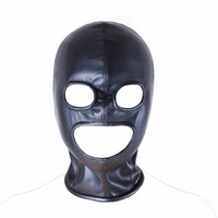 Soft Leather Fetish Mask Hood Sexy Toys Fetish Open Mouth Eye Hood Mask Head Bondage Adult Games Sex Toys For Couple Sex Product