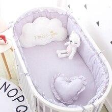 (5 pcs 세트) 사용자 정의 크기 아기 침구 세트 침대 범퍼 4 pcs + 1 pc 어린이 침대 120x60 cm 아기 침대에 대 한 시트 장착