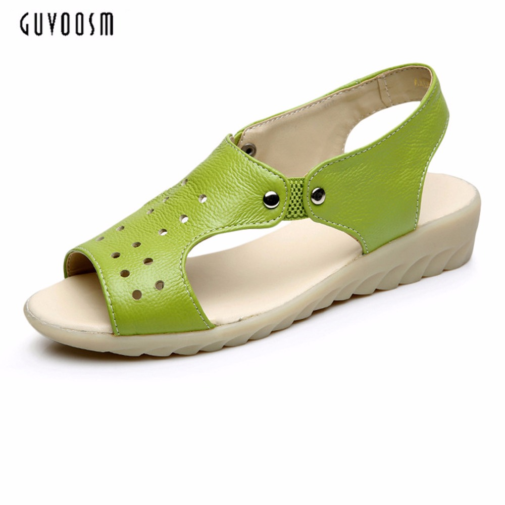 Guvoosm  Woman Gladiator Women Hand Made Genuine Leather Summer Sandals Sexy Peep Toe Heel Classics Mujer Shoes Size 34-43 summer shoes woman platform sandals women soft leather casual open toe gladiator wedges women nurse shoes zapatos mujer size 8