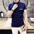 Summer 2016  Men Short Sleeve real Brand Clothing Fitness Tommis Men Polo Shirts Fake Pockets Fit madrid Shirt 505-T186