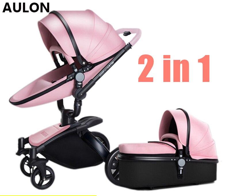 Oyun AULON cortical Longo carrinho de bebê bi-direcional de alta-view absorvedor de choque carrinho de bebê pode se sentar no carrinho