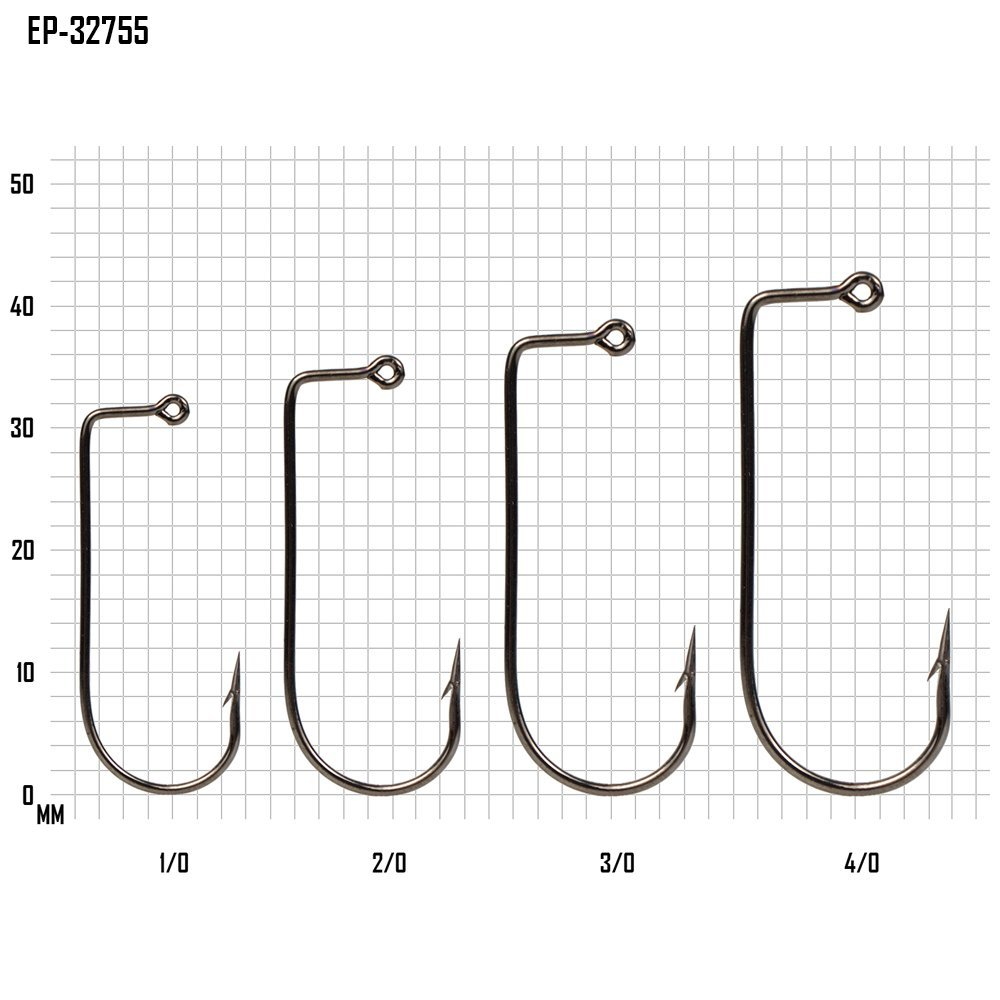 Eupheng 100pcs High Carbon Steel Barbed Aberdeen Lure Jig Fishing Hooks 90 Degree Flat Eye Classical Jig Worm Fishing Hooks