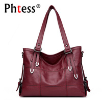 2018 New Top Handle Bags For Women Leather Handbags Luxury Brand Sac Large Capacity Tote Bag