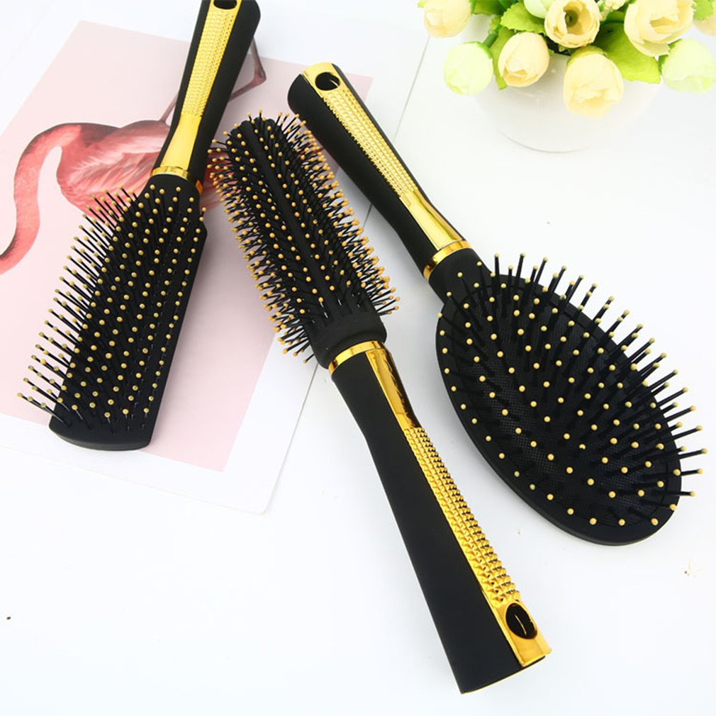 Купить с кэшбэком Portable Size Cute Home Anti-static Magic Detangler Hair Curl Straight Massage Comb Hair Styling Tools