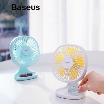 Baseus Electric Mini Fan Portable Ventiladors USB Mijia Fan Ultra Quiet Summer Cooler 5 Blades Desktop Office Fan Fans