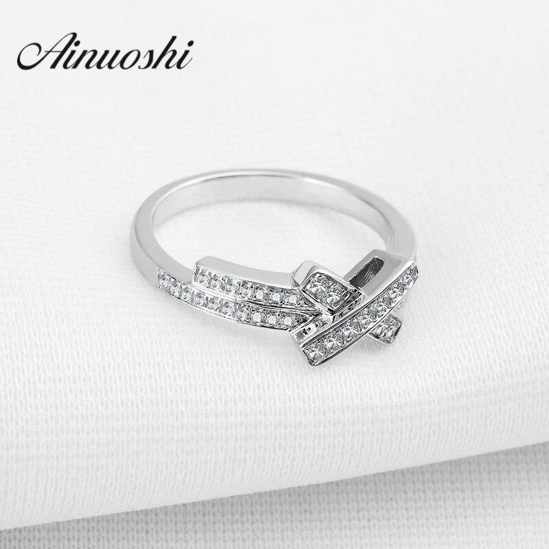 Nouvelle marque de haute qualité classique solide 925 en argent Sterling femmes bague de mariage croix pour fiançailles amour cadeau bijoux de mode