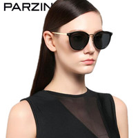 PARZIN Cat Eye Sunglasses Women Brand Designer Vintage TR 90 Polarized Sun Glasses Driving Sunglasses Shades With Case 9893