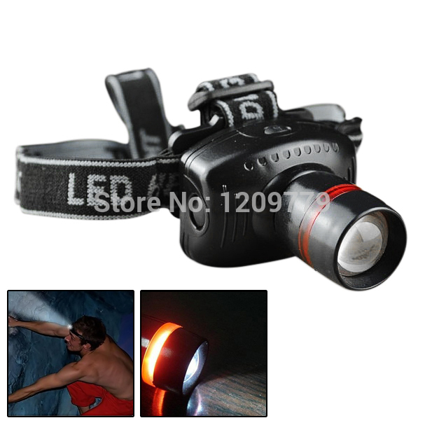 A6 Hot Headlight LED Flashlight Focus Strap Adjustable For Camping Lamp LED001  L0708 P