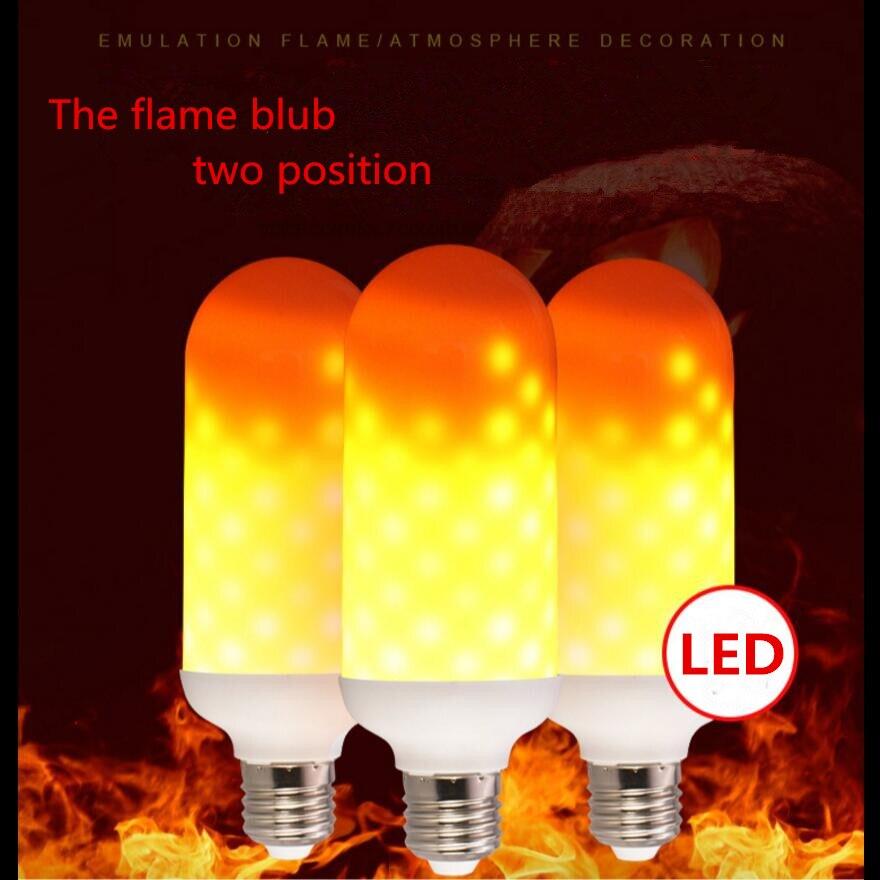 5 Вт Освещение эффекты светодиодные лампы накаливания E27 E26 1800 К желтый мигающий пламя огня Светодиодные лампы свет кукурузы лампы AC85-265V 110 В ... ...