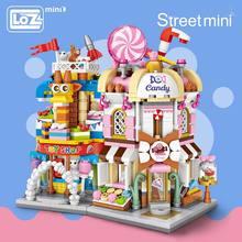 LOZ ミニレンガシティビューシーンミニストリートモデルビルディングブロックおもちゃゲームルームキャンディーショップ玩具店アーキテクチャ子供 DIY