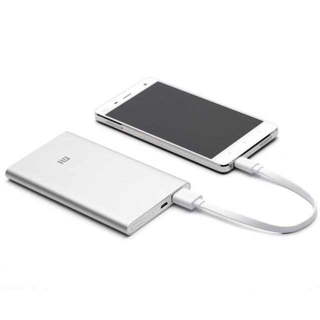 5 unids/lote 100% original xiao mi real del banco de potencia 5000 mah ultra thin xiao mi cargador externo para el teléfono móvil envío rápido