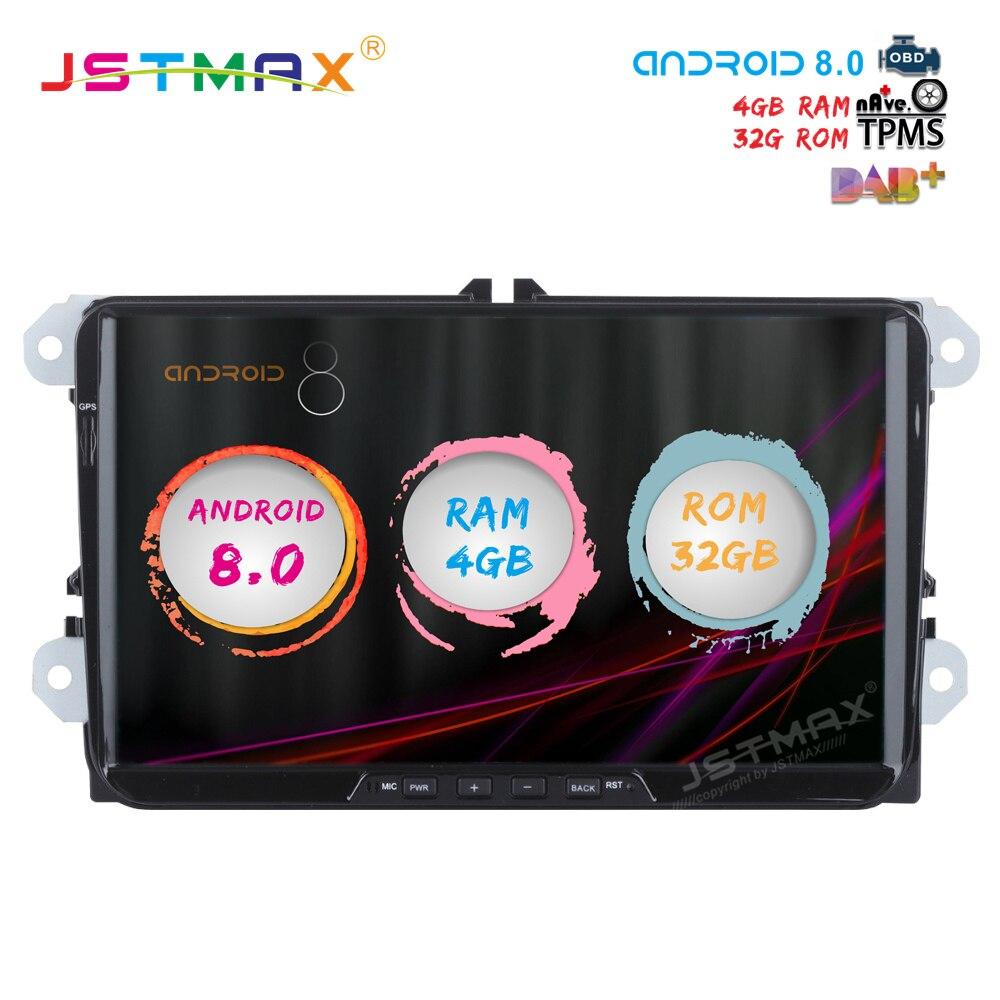 JSTMAX 9 Android 8 0 car dvd for passat Golf Seat Leon Alhambra Altea Toledo font