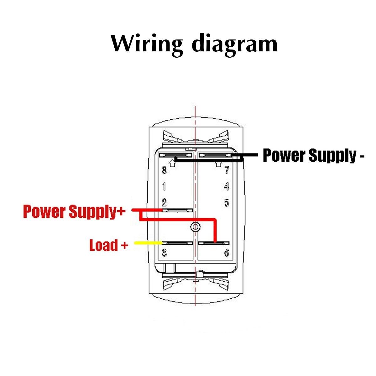 12 24v Mini Universal Electric 5pin Rocker Switch Led Cooling Fan Wiring Diagram Car Auto Waterproof