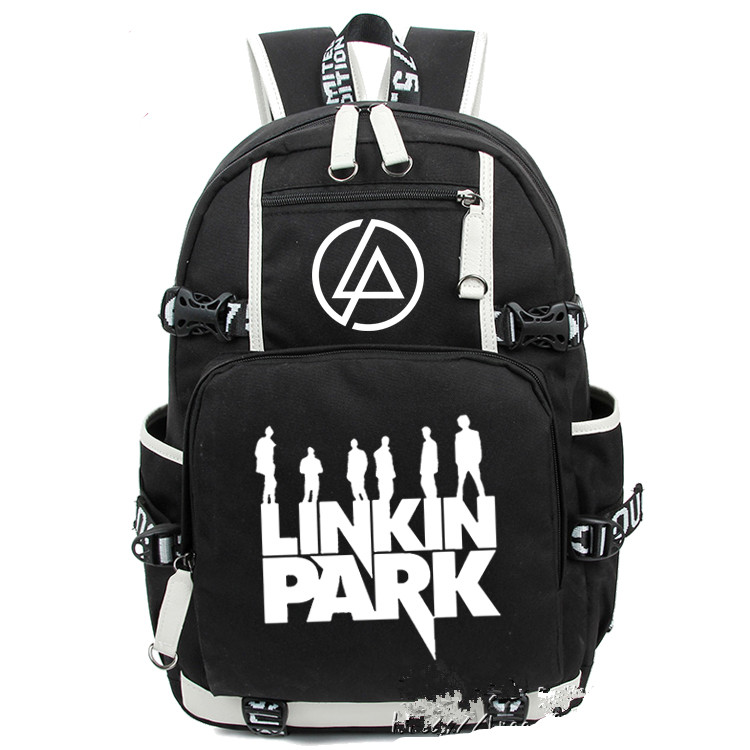 Anime Linkin Park Backpack Bag Glow in Light Printing School Backpacks Laptop Shoulder Bags Cosplay japan anime cardcaptor sakura backpack school bag shoulder bag printing pink backpack
