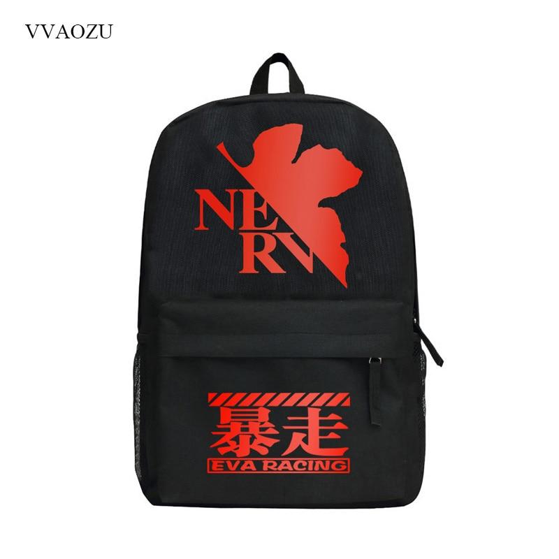 EVA Schoolbags for Teenagers School Book Bag Sac School Bags Neon Genesis Evangelion Ayanami Rei Printing Backpack Mochila nude doll ayanami rei blue hair 6203