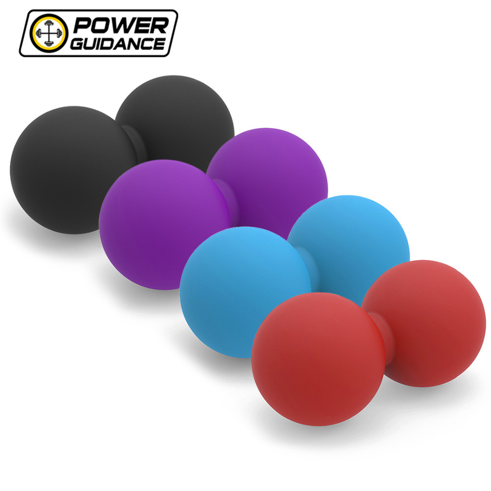 Peanut Lacrosse Ball Mobility Massage Ball Myofascial & Trigger Point Release Muscle Roller Ball elite fitness massager roller stick trigger point muscle roller exercise therapy releasing tight body massage tool gym rolling