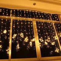 4 메터 x 3 메터 400 요정 웨딩 커튼 빛 크리스마스 조명 LED 스트링 전구 화환 새해 파티 실내 야외 정원 장식