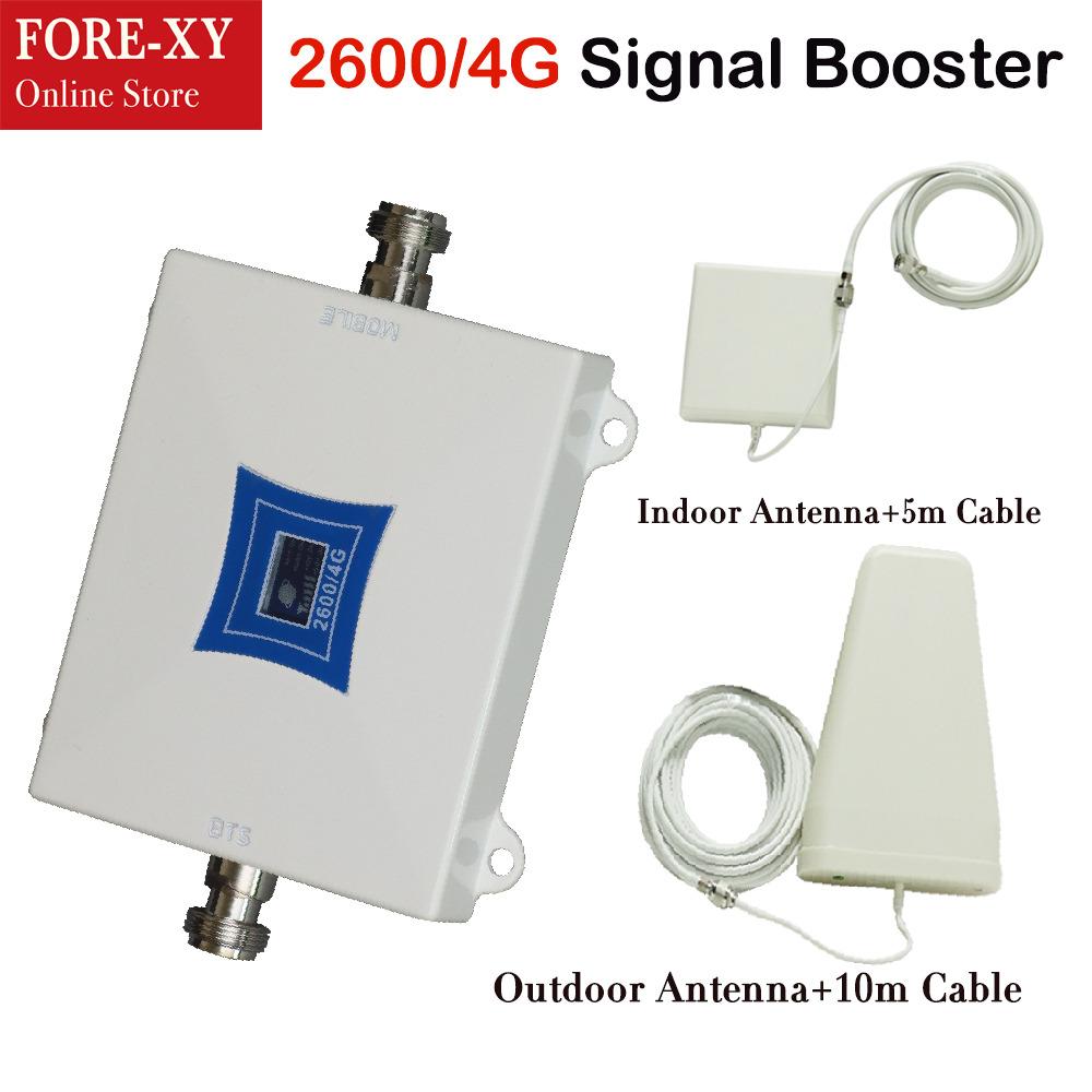 ZQTMAX 4G Repeater LTE Cellular Signal Amplifier LTE-FDD 2600 Cellphone Signal Booster Band7 Mobile Phone Signal Repeater
